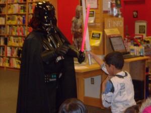 John Battles Darth Vader